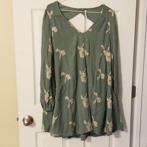 Green Dress by Free People